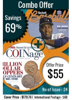 Beckett Baseball plus Coinage offer