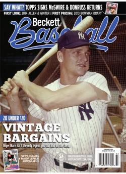Beckett Baseball 95 February 2014 Roger Maris