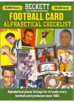 Football Card Alphabetical Checklist No. 5