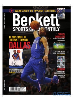 Beckett Sports Card Monthly 394 January 2018