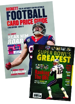 Beckett Football Card Price Guide Issue #33 - FREE Beckett Super Bowl's Greatest 2016