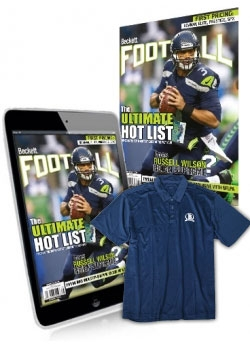 Beckett Football 1 Year Print Subscription + 3 month Football Digital Subscription+  T shirt