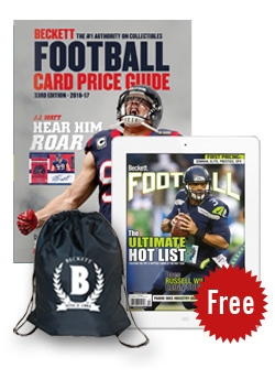 Beckett Football Card Price Guide #33 + 3 Months Football Digital Subscription FREE