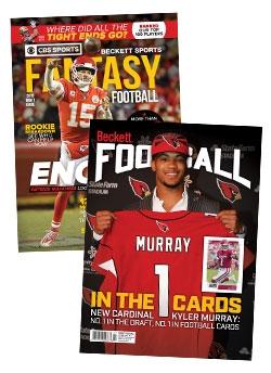 2019 Fantasy Football Draft Guide + 1-year Beckett Football Subscription