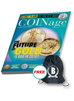 COINage 1 Year Print Subscription + Free Sling Bag