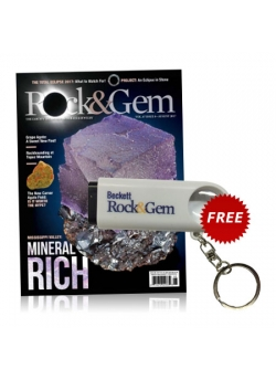 Rock&Gem 1 year Print Subscription + Free Magnifier Key Chain