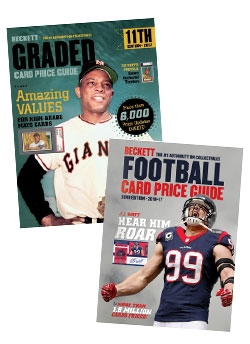 Graded Card Price Guide Issue# 11 2017 + Beckett Football Card Price Guide Issue #33