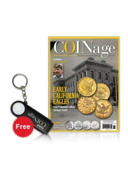 COINage 1 year Print Subscription + Free Magnifying Glass