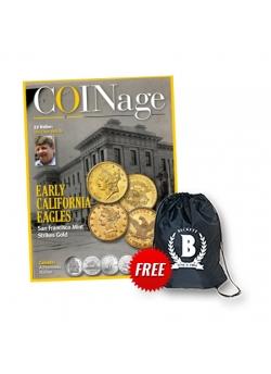 Beckett COINage 1 Year Print Subscription + Sling Bag Free