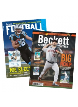 Beckett Sports Cards Monthly 1 Year Subscription Plus Beckett Football 1 Year Subscription