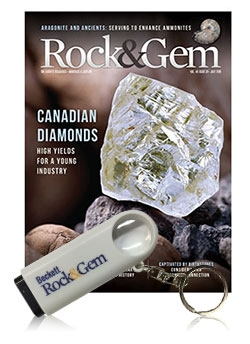Rock & Gem 1-year Print Subscription + Free Magnifying Glass Keychain