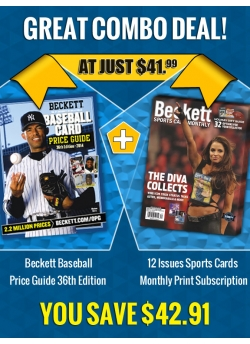Beckett Baseball Price Guide 36th Edition PLUS 12 Issues SCM Print Subscription