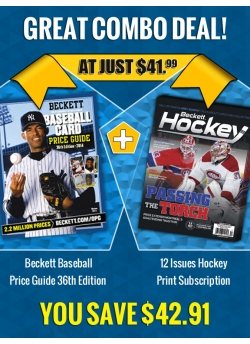 Beckett Baseball Price Guide 36th Edition PLUS 12 Issues Hockey Print Subscription