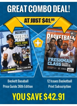 Beckett Baseball Price Guide 36th Edition PLUS 12 Issues  Basketball Print Subscription