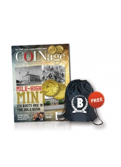 Beckett COINage 1 Year Print Subscription + Sling Bag Free