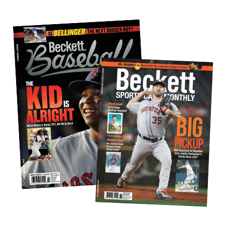 Beckett Sports Cards Monthly + Beckett Baseball Subscription Offer